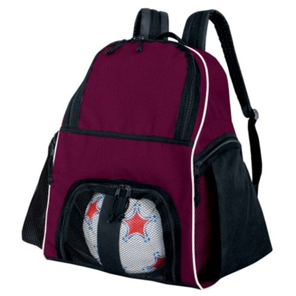 High Five Maroon Soccer Backpack - model 27850M