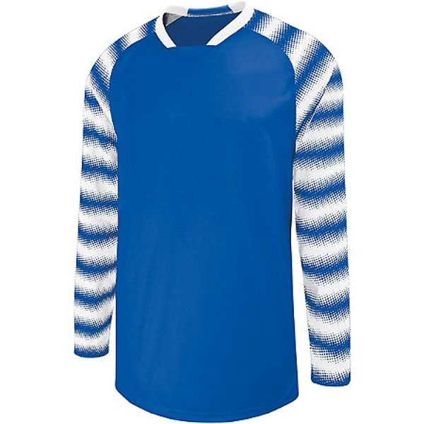 High Five Prism Royal/White Goalkeeper Jersey - model 24360-RW