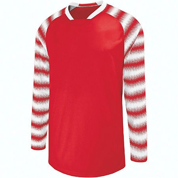 High Five Prism Scarlet/White Goalkeeper Jersey - model 24360-SW