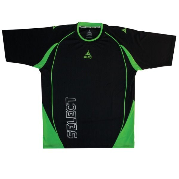 Select Florida Short Sleeve Black/Green Goalkeeper Jersey - model 53-300-014