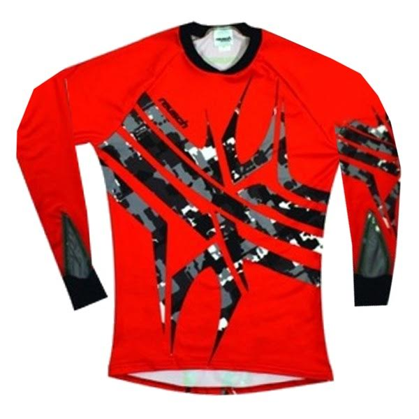 Reusch Arachnid Pro-Fit Shocking Red Soccer Goalkeeper Jersey - model 3711600-219