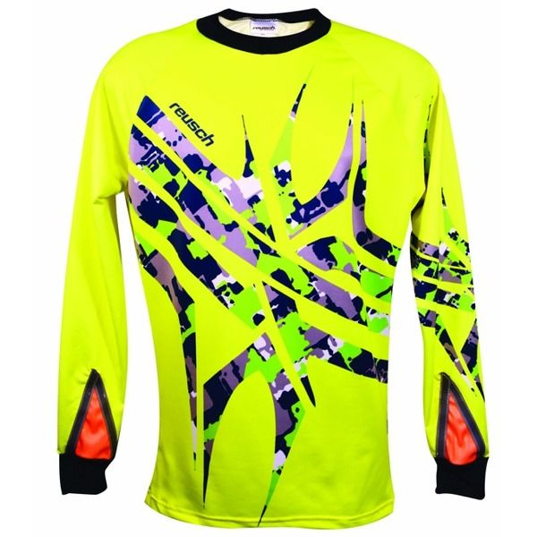 Reusch Arachnid Pro-Fit Safety Yellow Soccer Goalkeeper Jersey - model 3711600-232