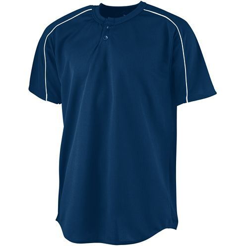 Wicking Two-Button Baseball Jersey - model 585