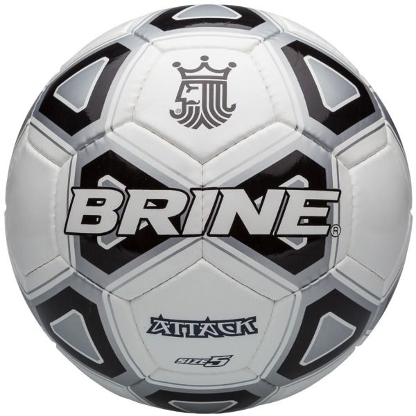 Brine Attack Black Soccer Ball - model SBATTK-BK