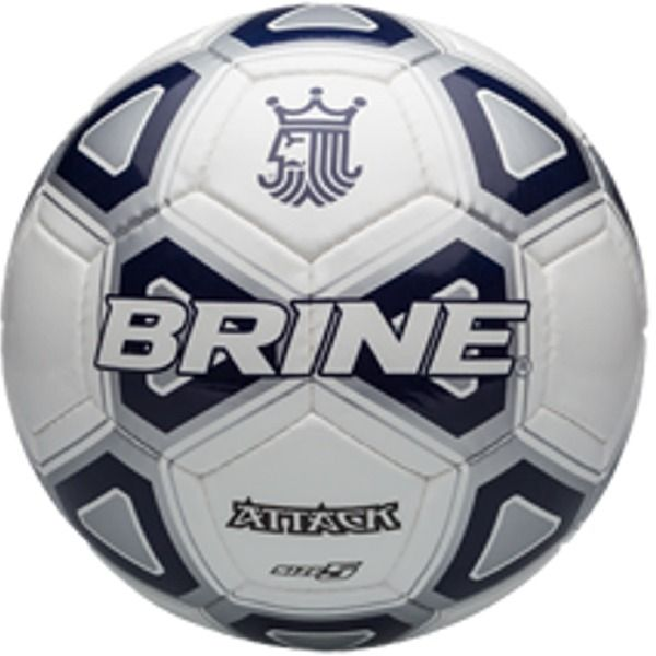 Brine Attack Navy Soccer Ball - model SBATTK4-NV