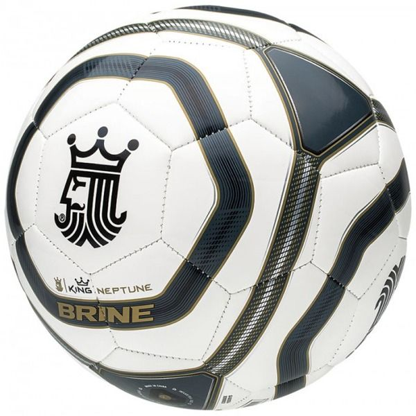 Brine King Neptune White/Black Soccer Ball - model SBKNEP6-WBK