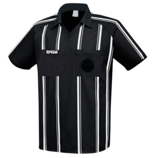RefGear Black Referee Jersey - model 910SBK