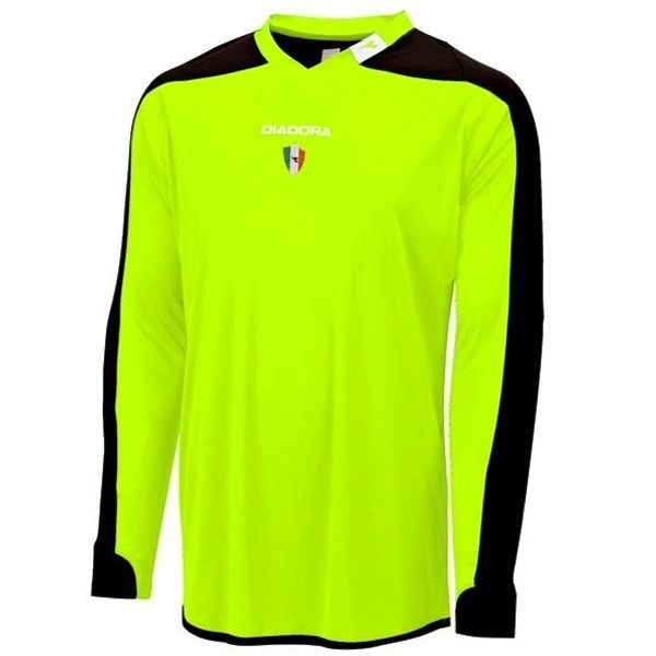 Diadora Enzo Neon Yellow Long Sleeve Goalkeeper Jersey - model 993245