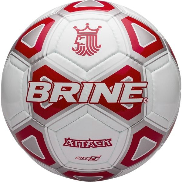 Brine Attack White/Scarlet Soccer Ball - model SBATTK4-SCA