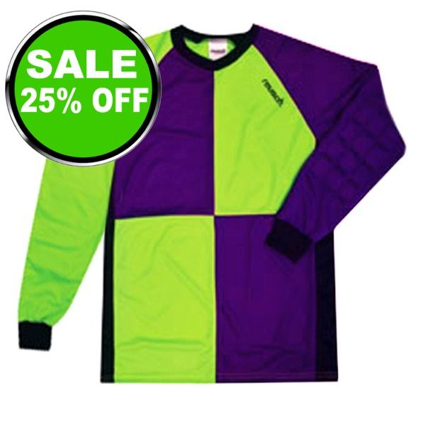 Reusch Harliquin Squares Green/Purple Soccer Goalkeeper Jersey - model 3511700G