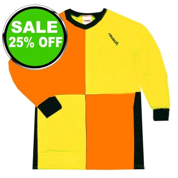 Reusch Harliquin Squares Yellow/Orange Soccer Goalkeeper Jersey - model 3511700O