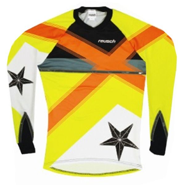 Reusch Cross Star Pro-Fit Shocking Orange/Safety Yellow Goalkeeper Jersey - model 3611600