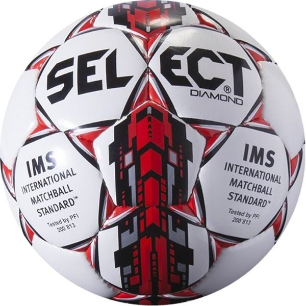 Select Diamond White/Red Soccer Ball - model 0295000200