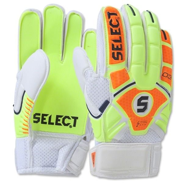 Select 03 Youth Guard Fingersaver Soccer Goalkeeper Gloves - model 60-103-304