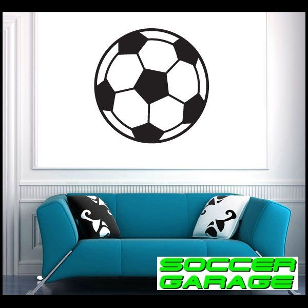Soccer Graphic Wall Decal - model SoccerAL007
