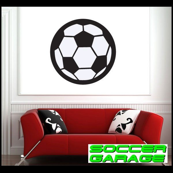 Soccer Graphic Wall Decal - model SoccerST009