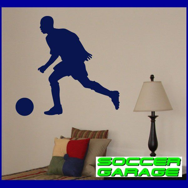 Soccer Graphic Wall Decal - model SoccerST003