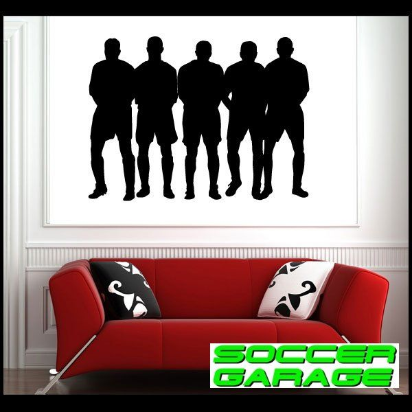 Soccer Graphic Wall Decal - model SoccerST005