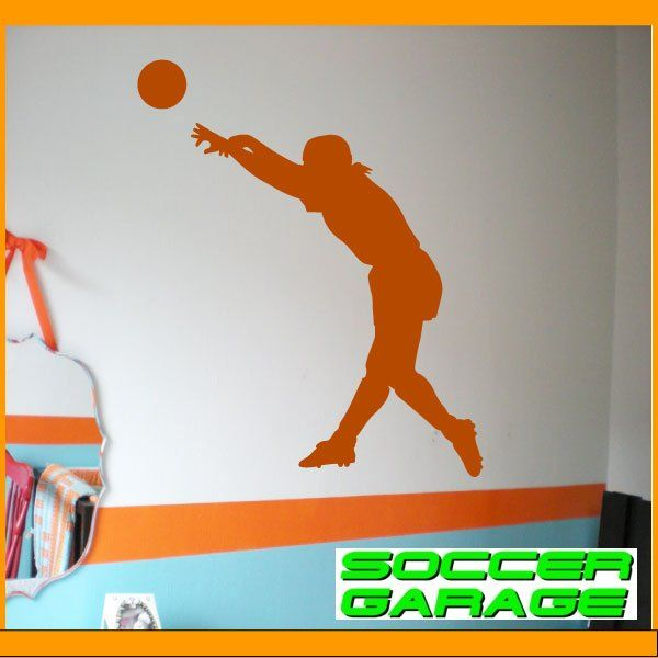 Soccer Graphic Wall Decal - model SoccerST006