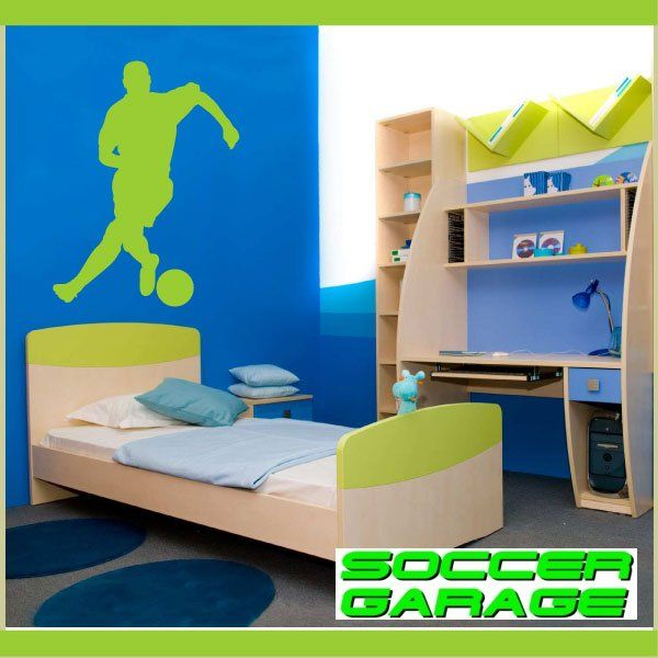 Soccer Graphic Wall Decal - model SoccerST011