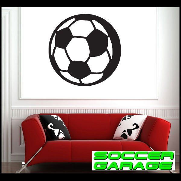 Soccer Graphic Wall Decal - model SoccerST013