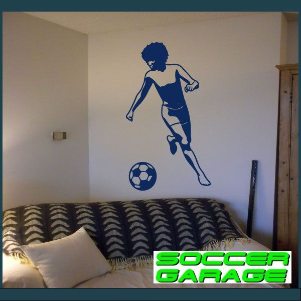 Soccer Graphic Wall Decal - model SoccerST023
