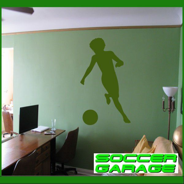 Soccer Graphic Wall Decal - model SoccerST024