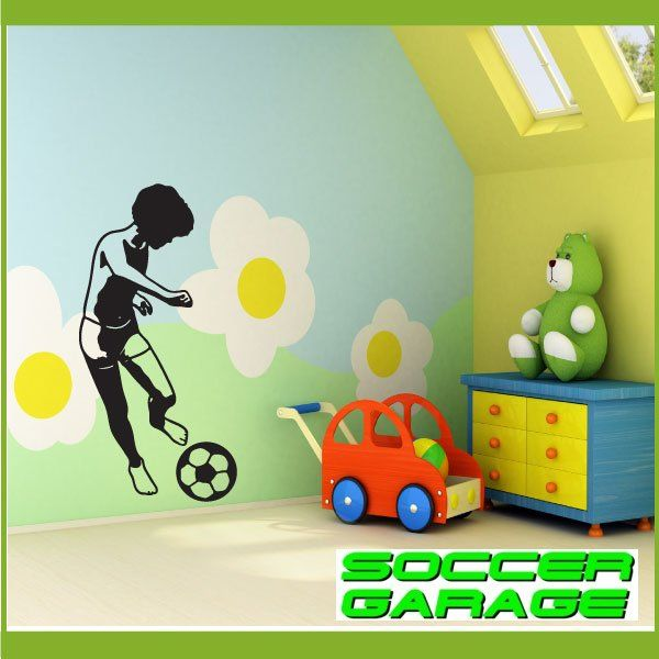 Soccer Graphic Wall Decal - model SoccerST025