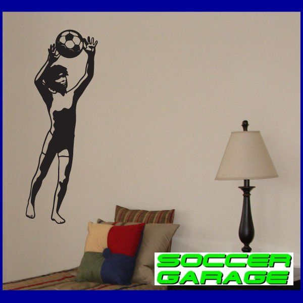 Soccer Graphic Wall Decal - model SoccerST027