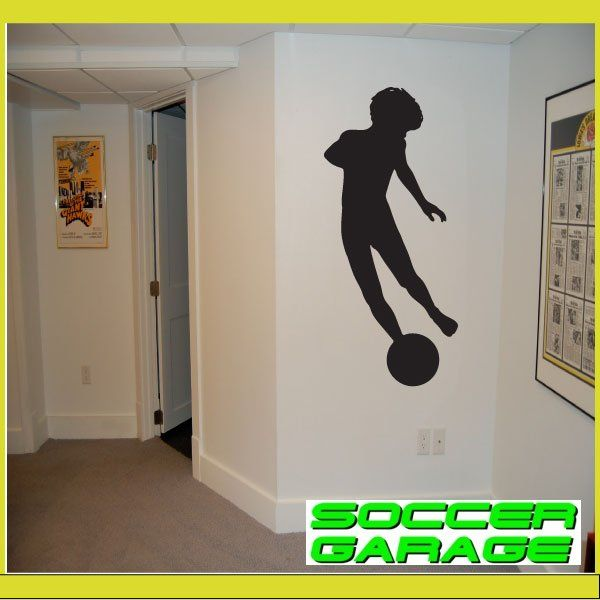 Soccer Graphic Wall Decal - model SoccerST028