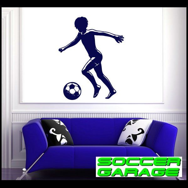 Soccer Graphic Wall Decal - model SoccerST029