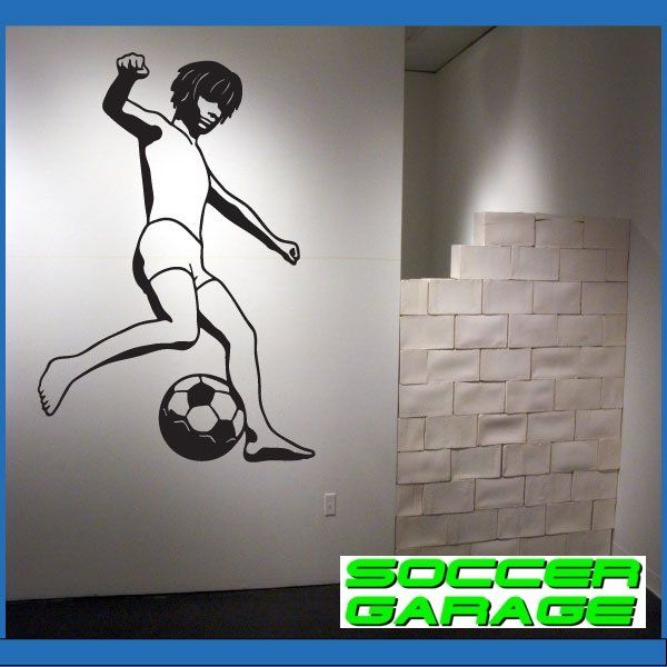 Soccer Graphic Wall Decal - model SoccerST033