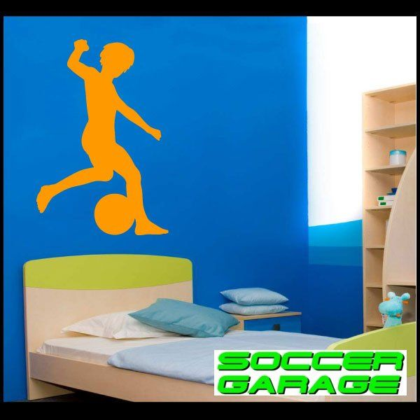 Soccer Graphic Wall Decal - model SoccerST034
