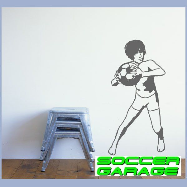 Soccer Graphic Wall Decal - model SoccerST035