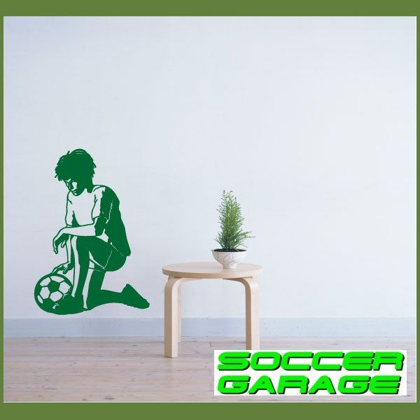 Soccer Graphic Wall Decal - model SoccerST039
