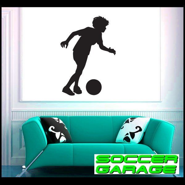 Soccer Graphic Wall Decal - model SoccerST042