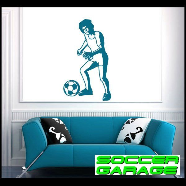 Soccer Graphic Wall Decal - model SoccerST043
