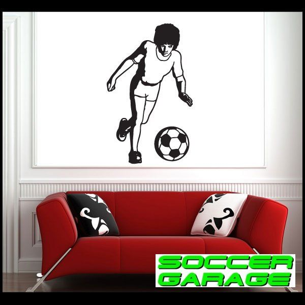 Soccer Graphic Wall Decal - model SoccerST045