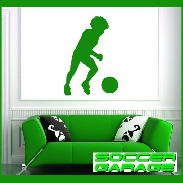 Soccer Graphic Wall Decal - model SoccerST048