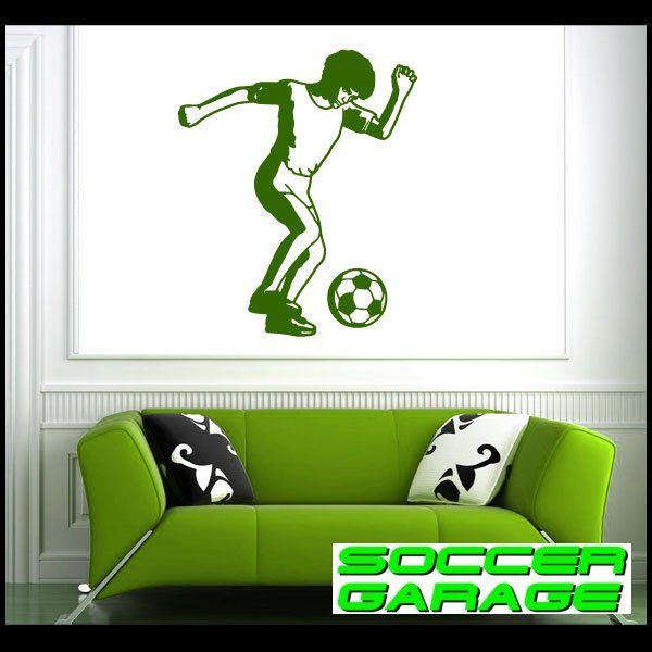 Soccer Graphic Wall Decal - model SoccerST049