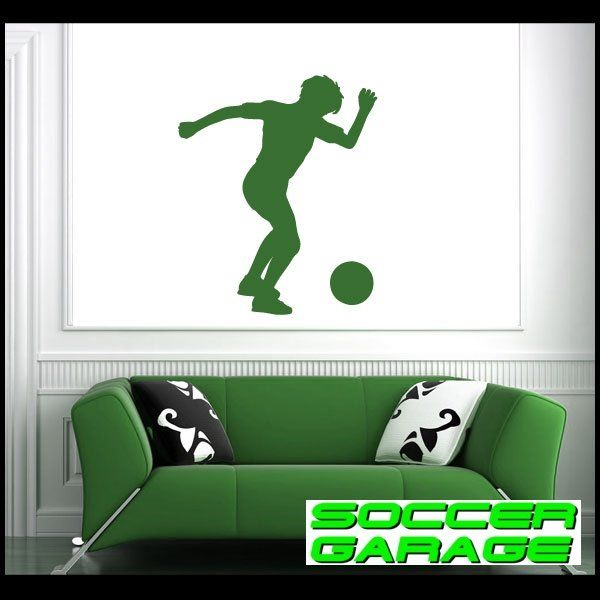 Soccer Graphic Wall Decal - model SoccerST050