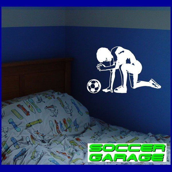 Soccer Graphic Wall Decal - model SoccerST061