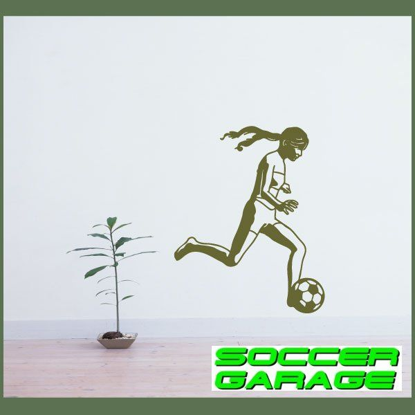 Soccer Graphic Wall Decal - model SoccerST067