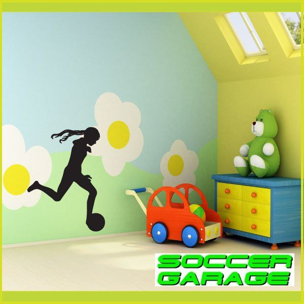 Soccer Graphic Wall Decal - model SoccerST070