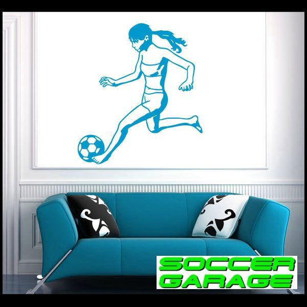 Soccer Graphic Wall Decal - model SoccerST075