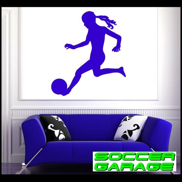 Soccer Graphic Wall Decal - model SoccerST076
