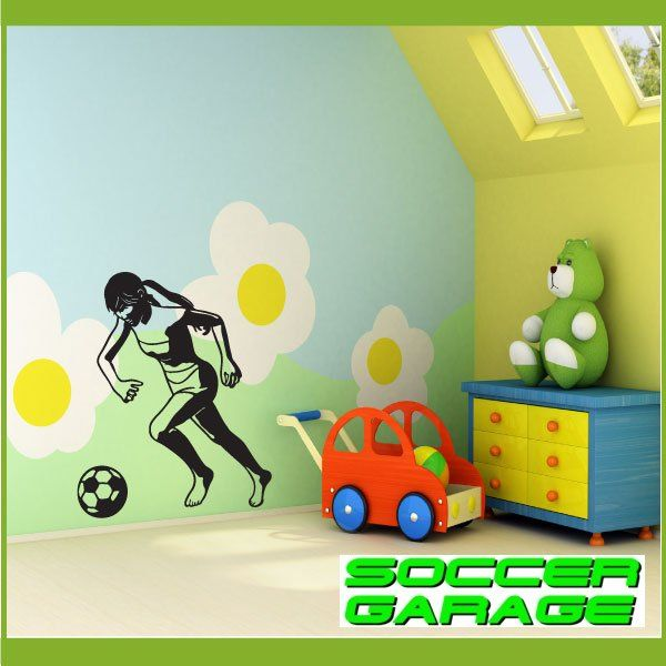 Soccer Graphic Wall Decal - model SoccerST089