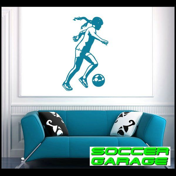 Soccer Graphic Wall Decal - model SoccerST117