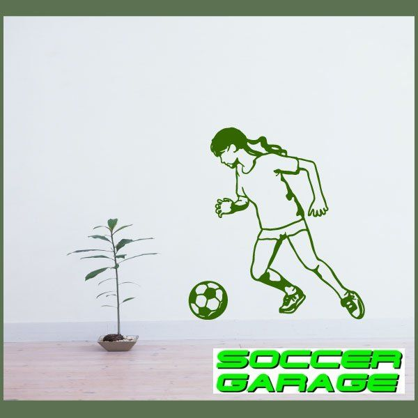 Soccer Graphic Wall Decal - model SoccerST141