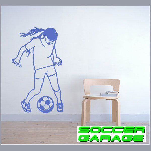 Soccer Graphic Wall Decal - model SoccerST147